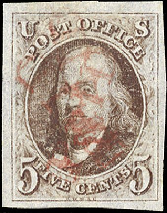 Us Stamp Prices Scott 1 1847 5c Franklin