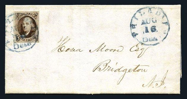Price of US Stamp Scott # 1: 1847 5c Franklin. Harmer-Schau Auction Galleries, Aug 2015, Sale 106, Lot 1227