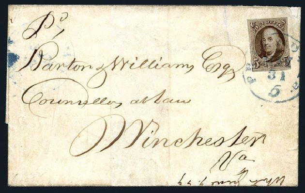 Values of US Stamps Scott # 1 - 1847 5c Franklin. Harmer-Schau Auction Galleries, Aug 2015, Sale 106, Lot 1230