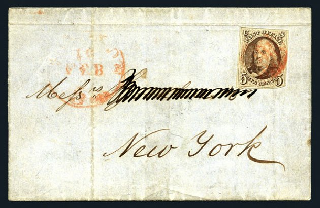Price of US Stamps Scott Catalog # 1 - 5c 1847 Franklin. Harmer-Schau Auction Galleries, Aug 2015, Sale 106, Lot 1231
