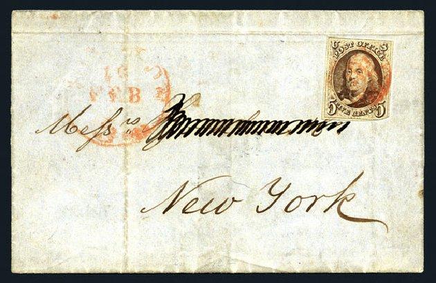 Price of US Stamps Scott Catalog # 1 - 5c 1847 Franklin. Harmer-Schau Auction Galleries, Aug 2015, Sale 106, Lot 1231