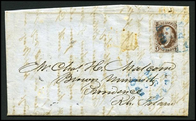 Values of US Stamp Scott 1 - 5c 1847 Franklin. Harmer-Schau Auction Galleries, Aug 2015, Sale 106, Lot 1232
