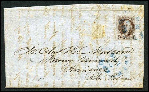Values of US Stamp Scott 1 - 5c 1847 Franklin. Harmer-Schau Auction Galleries, Aug 2015, Sale 106, Lot 1232