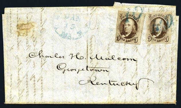 US Stamp Values Scott # 1: 1847 5c Franklin. Harmer-Schau Auction Galleries, Aug 2015, Sale 106, Lot 1233