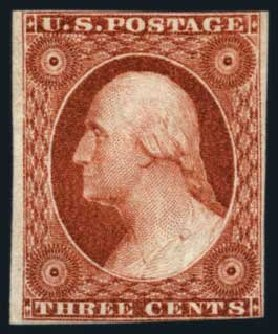 US Stamps Value Scott Cat. # 10 - 1851 3c Washington. Harmer-Schau Auction Galleries, Aug 2014, Sale 102, Lot 1637