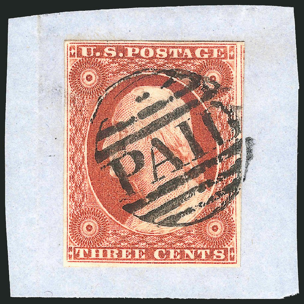 Values of US Stamps Scott Cat. 10 - 3c 1851 Washington. Robert Siegel Auction Galleries, Jul 2014, Sale 1077, Lot 47