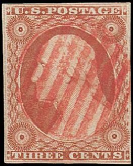 Value of US Stamp Scott #10 - 3c 1851 Washington. Regency-Superior, Aug 2015, Sale 112, Lot 69