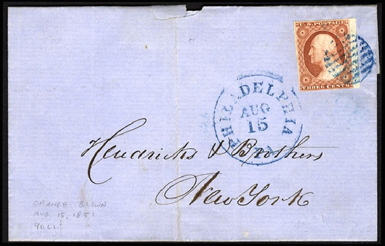 Values of US Stamps Scott Cat. 10: 3c 1851 Washington. Cherrystone Auctions, Jul 2015, Sale 201507, Lot 11