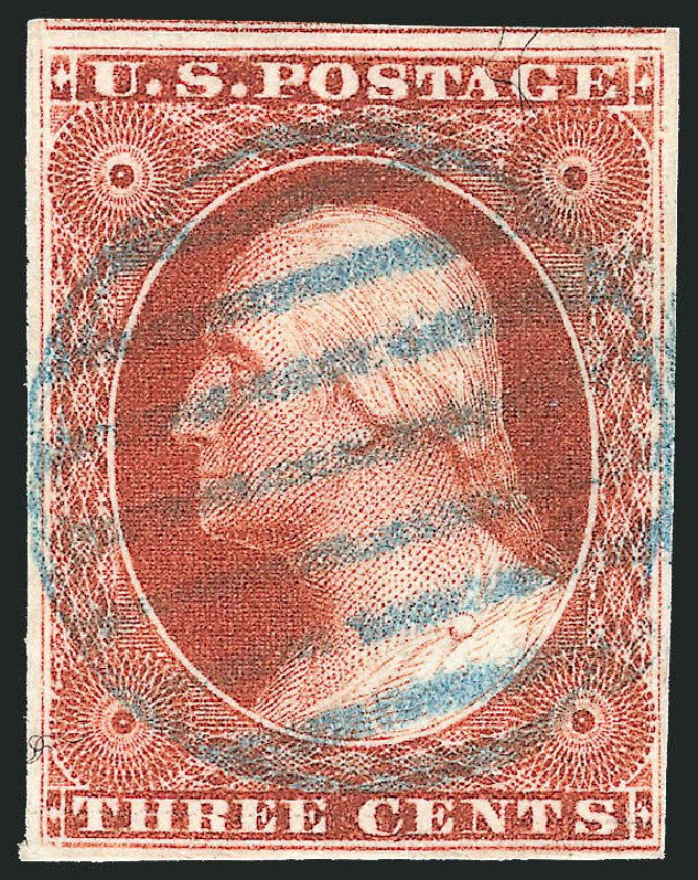 Price of US Stamp Scott Catalog # 10: 1851 3c Washington. Robert Siegel Auction Galleries, Apr 2015, Sale 1096, Lot 21