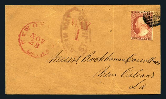 Prices of US Stamps Scott 10: 3c 1851 Washington. Harmer-Schau Auction Galleries, Aug 2015, Sale 106, Lot 1294