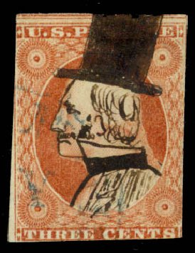 Value of US Stamp Scott Catalog # 10 - 1851 3c Washington. Daniel Kelleher Auctions, May 2014, Sale 652, Lot 65
