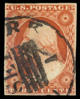 US Stamp Prices Scott Cat. #10 - 3c 1851 Washington. Daniel Kelleher Auctions, Dec 2014, Sale 661, Lot 25