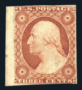 US Stamps Prices Scott Catalog #10 - 1851 3c Washington. Harmer-Schau Auction Galleries, Aug 2015, Sale 106, Lot 1292