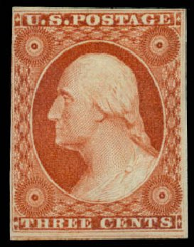 Value of US Stamps Scott Cat. #10 - 3c 1851 Washington. Daniel Kelleher Auctions, Sep 2014, Sale 655, Lot 153