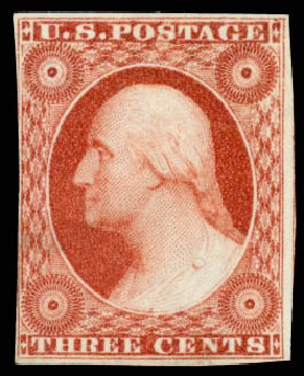 Value of US Stamps Scott Catalogue 10: 3c 1851 Washington. Daniel Kelleher Auctions, Oct 2014, Sale 660, Lot 2033