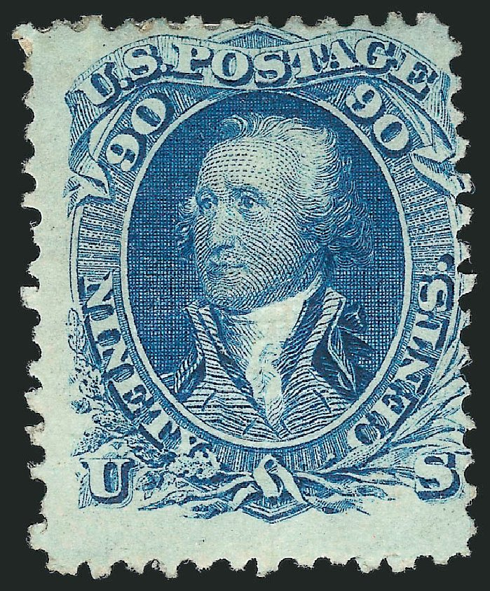 Cost of US Stamp Scott Catalogue 101: 1869 90c Washington Grill. Robert Siegel Auction Galleries, Jul 2015, Sale 1107, Lot 217