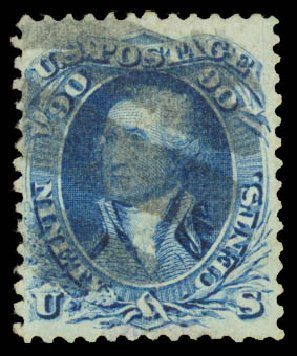 Value of US Stamps Scott Catalog # 101: 1869 90c Washington Grill. Daniel Kelleher Auctions, Aug 2015, Sale 672, Lot 2319