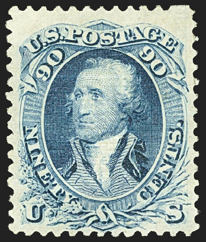 US Stamps Value Scott #101 - 1869 90c Washington Grill. Robert Siegel Auction Galleries, Jul 2015, Sale 1107, Lot 215