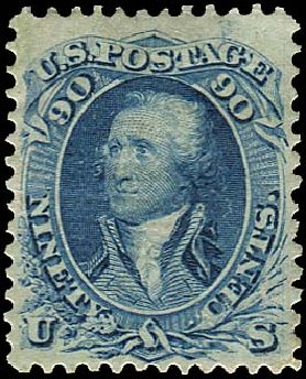 Costs of US Stamp Scott #101 - 90c 1869 Washington Grill. Regency-Superior, Aug 2015, Sale 112, Lot 222