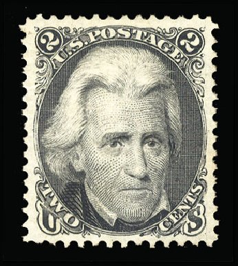 US Stamp Prices Scott #103 - 2c 1875 Jackson Without Grill. Cherrystone Auctions, Mar 2015, Sale 201503, Lot 4