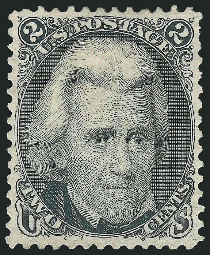 Cost of US Stamp Scott Catalog 103: 1875 2c Jackson Without Grill. Robert Siegel Auction Galleries, Dec 2014, Sale 1090, Lot 1244