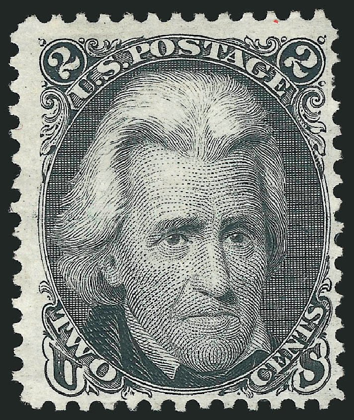 Values of US Stamps Scott 103 - 1875 2c Jackson Without Grill. Robert Siegel Auction Galleries, Feb 2015, Sale 1092, Lot 1074