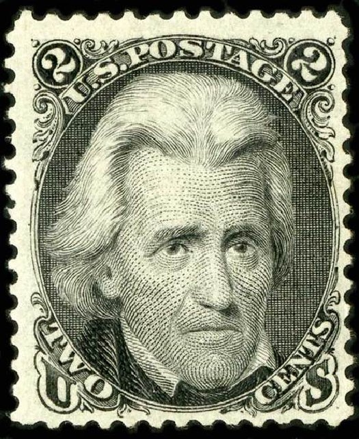 Cost of US Stamps Scott Catalog # 103 - 2c 1875 Jackson Without Grill. Spink Shreves Galleries, Jul 2015, Sale 151, Lot 94