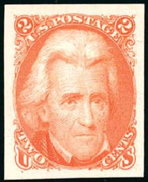 US Stamps Price Scott # 103: 1875 2c Jackson Without Grill. Schuyler J. Rumsey Philatelic Auctions, Apr 2015, Sale 60, Lot 1823
