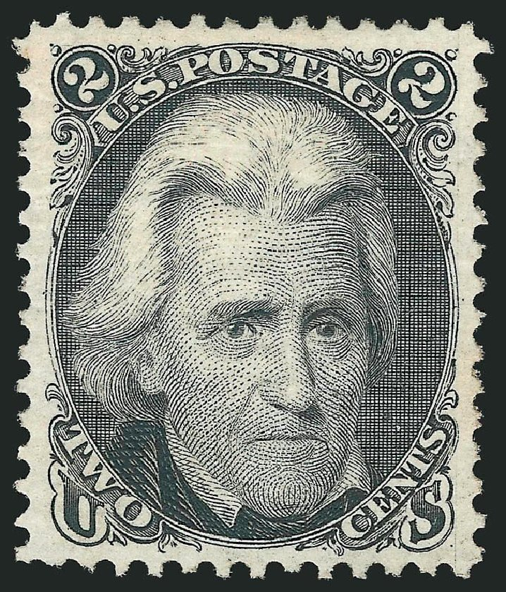 Cost of US Stamps Scott Catalog 103: 1875 2c Jackson Without Grill. Robert Siegel Auction Galleries, Dec 2014, Sale 1090, Lot 1243