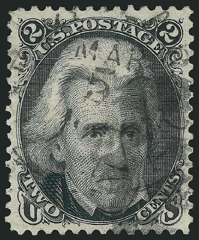 Values of US Stamp Scott Cat. 103 - 1875 2c Jackson Without Grill. Robert Siegel Auction Galleries, Jun 2015, Sale 1106, Lot 3106