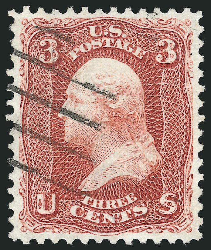US Stamps Price Scott Catalogue 104 - 3c 1875 Washington Without Grill. Robert Siegel Auction Galleries, Dec 2012, Sale 1037, Lot 1637