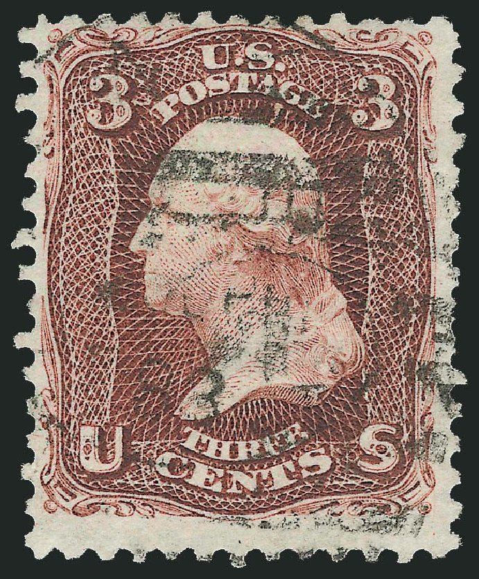 Prices of US Stamp Scott Catalogue #104 - 1875 3c Washington Without Grill. Robert Siegel Auction Galleries, Jul 2014, Sale 1077, Lot 111