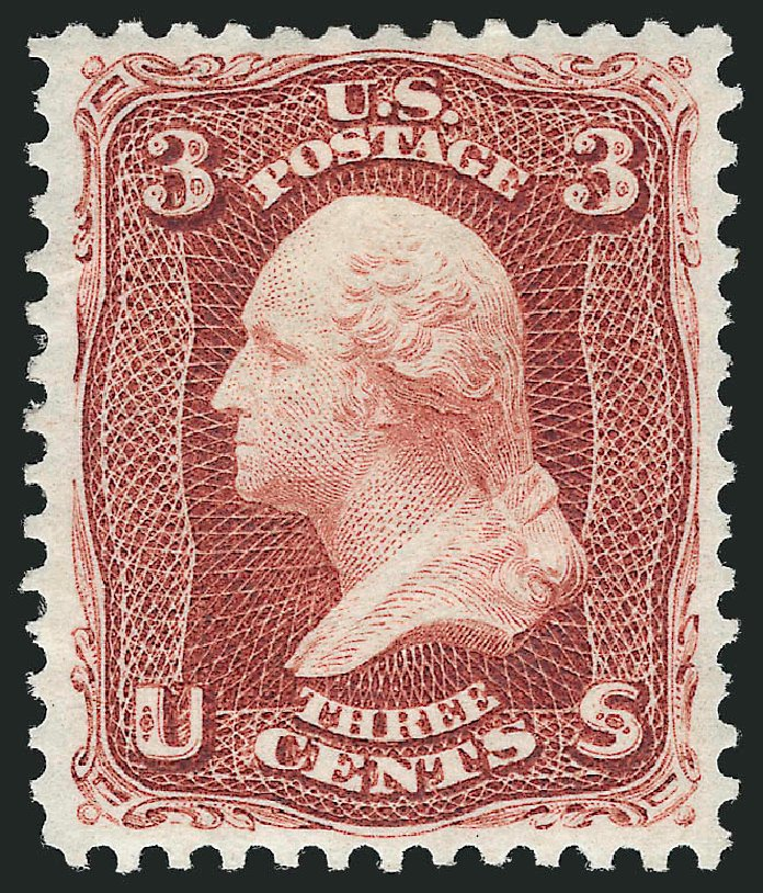 Value of US Stamps Scott 104 - 3c 1875 Washington Without Grill. Robert Siegel Auction Galleries, Dec 2012, Sale 1037, Lot 1634
