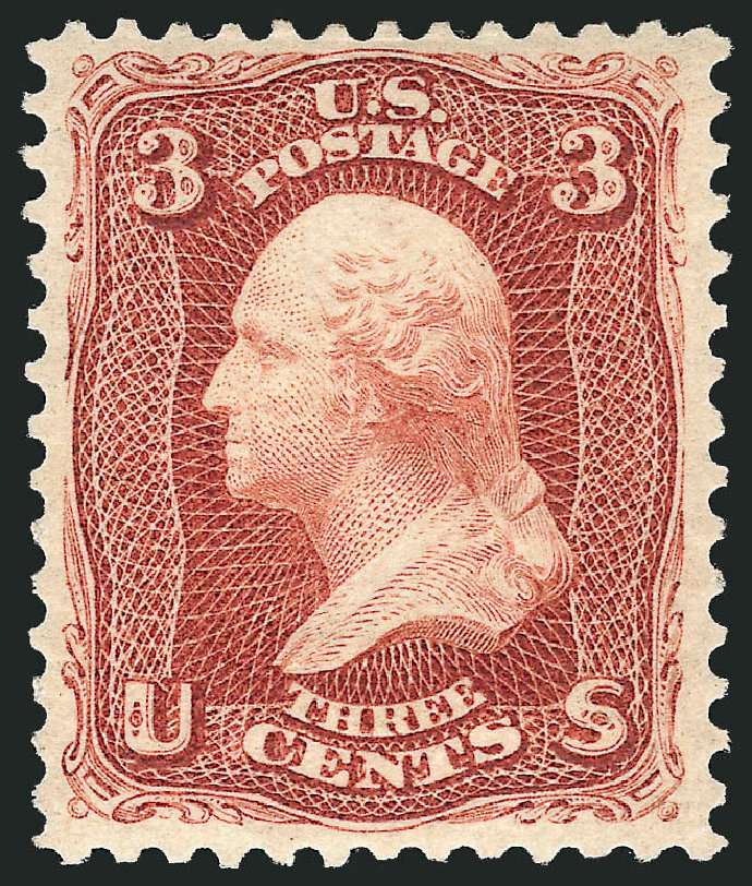 US Stamp Prices Scott Catalog # 104 - 3c 1875 Washington Without Grill. Robert Siegel Auction Galleries, Apr 2015, Sale 1096, Lot 202