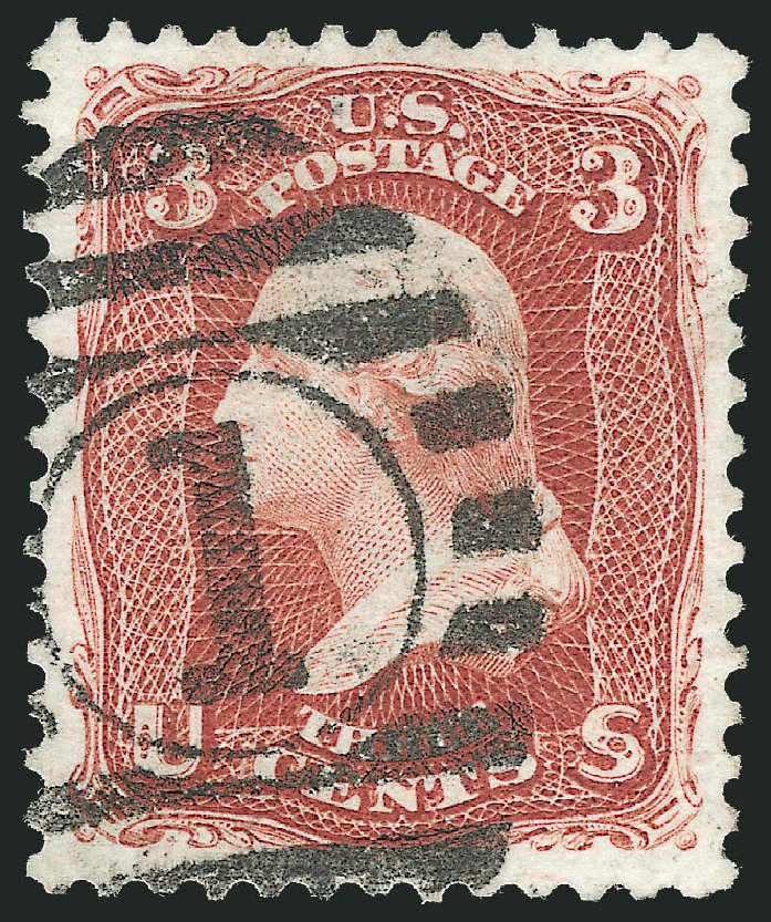 Price of US Stamps Scott Catalog #104 - 1875 3c Washington Without Grill. Robert Siegel Auction Galleries, Nov 2012, Sale 1034, Lot 116