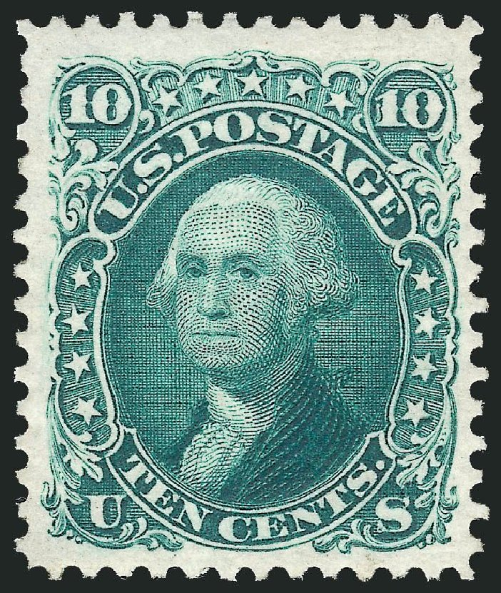 Prices of US Stamp Scott Cat. #106 - 1875 10c Washington Without Grill. Robert Siegel Auction Galleries, Dec 2014, Sale 1090, Lot 1248