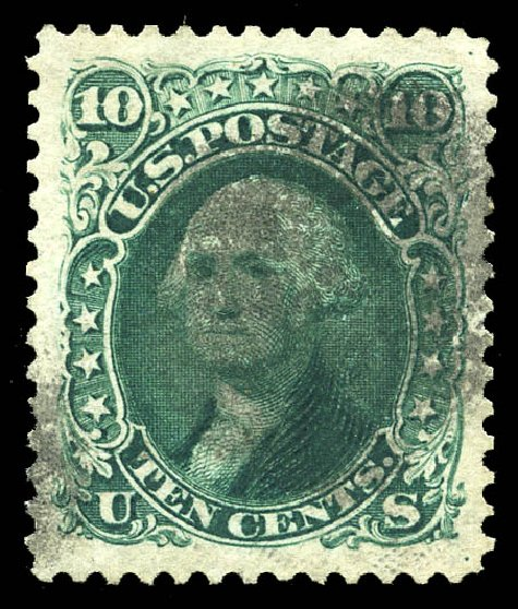 Value of US Stamps Scott Cat. # 106 - 10c 1875 Washington Without Grill. Matthew Bennett International, Feb 2015, Sale 351, Lot 89