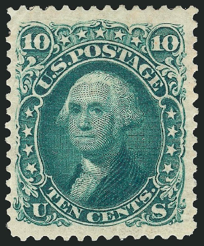 Costs of US Stamp Scott Cat. 106: 10c 1875 Washington Without Grill. Robert Siegel Auction Galleries, Sep 2014, Sale 1078, Lot 211