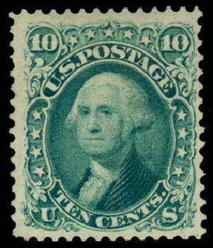 Value of US Stamps Scott # 106: 10c 1875 Washington Without Grill. Daniel Kelleher Auctions, Dec 2013, Sale 640, Lot 124