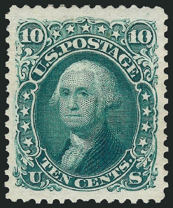 Price of US Stamp Scott Cat. 106: 10c 1875 Washington Without Grill. Robert Siegel Auction Galleries, Nov 2013, Sale 1061, Lot 3525