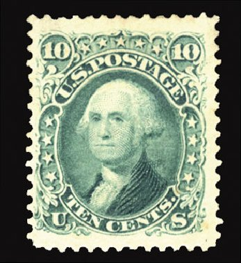 Cost of US Stamp Scott Cat. #106: 1875 10c Washington Without Grill. Cherrystone Auctions, Jun 2012, Sale 201206, Lot 52