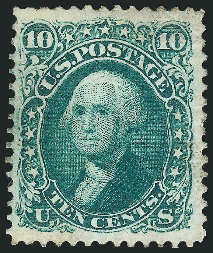 US Stamp Values Scott Catalogue #106: 1875 10c Washington Without Grill. Robert Siegel Auction Galleries, Dec 2012, Sale 1037, Lot 1642