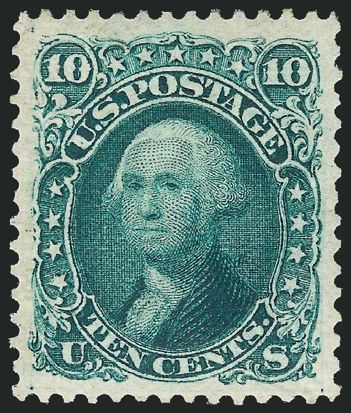 Value of US Stamps Scott Cat. #106: 10c 1875 Washington Without Grill. Robert Siegel Auction Galleries, Dec 2013, Sale 1062, Lot 293