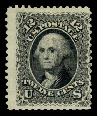 Value of US Stamps Scott 107: 12c 1875 Washington Without Grill. Daniel Kelleher Auctions, Sep 2013, Sale 639, Lot 387