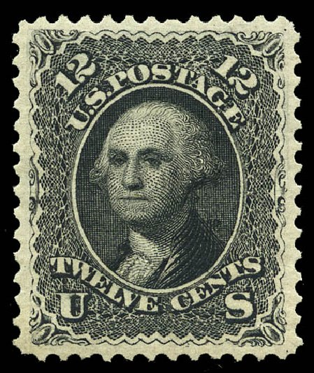 Value of US Stamps Scott Catalog #107 - 1875 12c Washington Without Grill. Matthew Bennett International, May 2014, Sale 350, Lot 188
