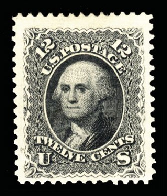 Prices of US Stamps Scott Catalog #107: 1875 12c Washington Without Grill. Cherrystone Auctions, Jun 2014, Sale 201406, Lot 48