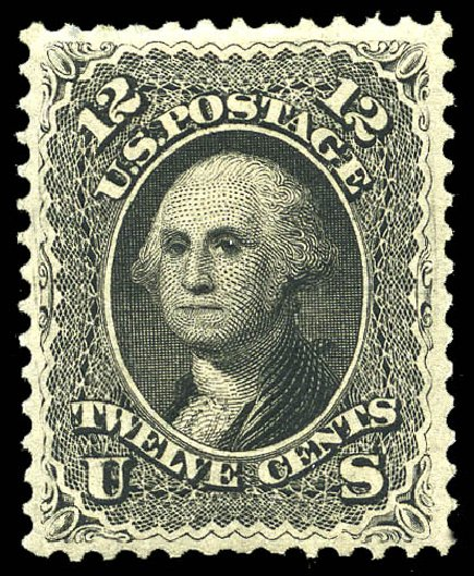 Values of US Stamp Scott Cat. #107 - 1875 12c Washington Without Grill. Matthew Bennett International, May 2014, Sale 350, Lot 189