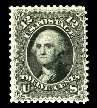 Cost of US Stamp Scott 107: 1875 12c Washington Without Grill. Cherrystone Auctions, Jul 2013, Sale 201307, Lot 29