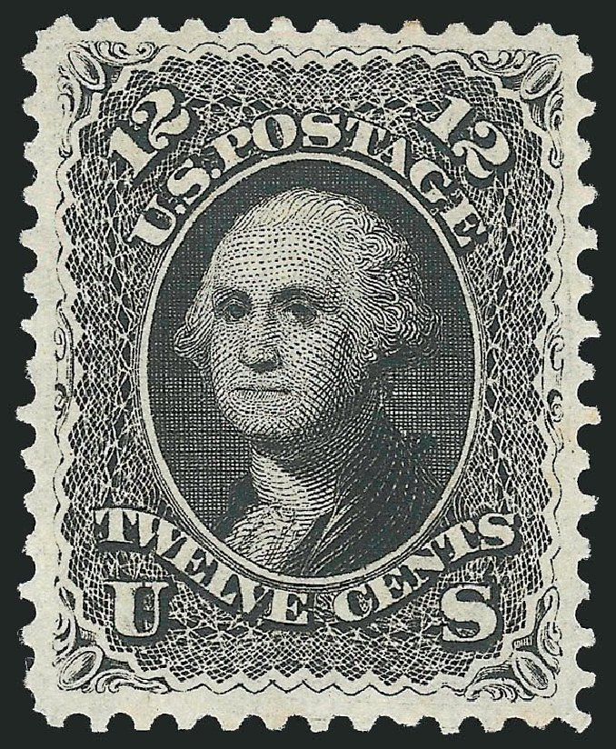 Cost of US Stamp Scott Cat. # 107: 1875 12c Washington Without Grill. Robert Siegel Auction Galleries, Dec 2014, Sale 1090, Lot 1249