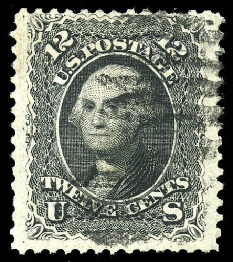 Price of US Stamps Scott Catalog # 107 - 12c 1875 Washington Without Grill. Matthew Bennett International, Feb 2015, Sale 351, Lot 90